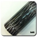 Imitace kůže krokodýl lesklá černá polepová fólie 152x50cm - interiér/exteriér_1