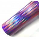 Duhová chromovaná fialová polepová fólie 142x50cm - interiér/exteriér_1